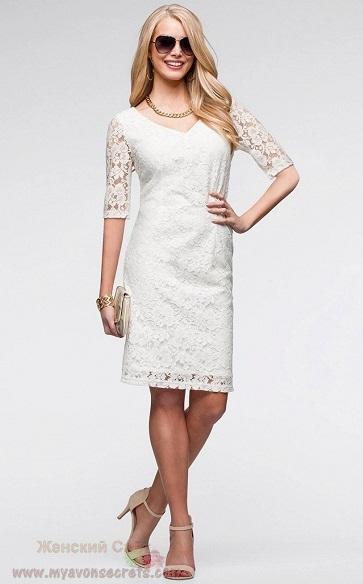Платье кружевное белое купить в украине